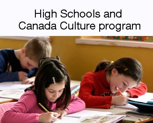 High Schools and Canada Culture program